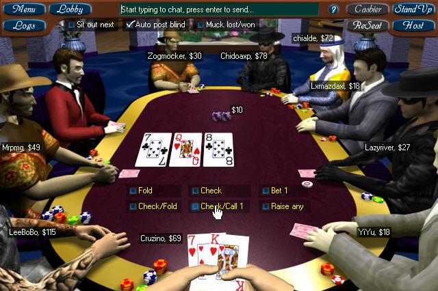 3 д покер играть онлайн